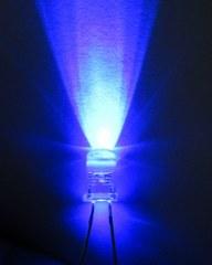 หลอดไฟ led 5 mm สีน้ำเงิน  Super Bright ราคาถูก  100 หลอด 90 บาท