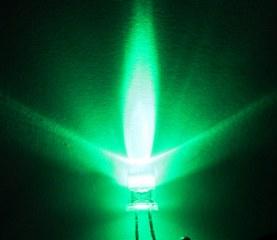 หลอดไฟ led 5 mm สีเขียว  Super Bright ราคาถูก  100 หลอด
