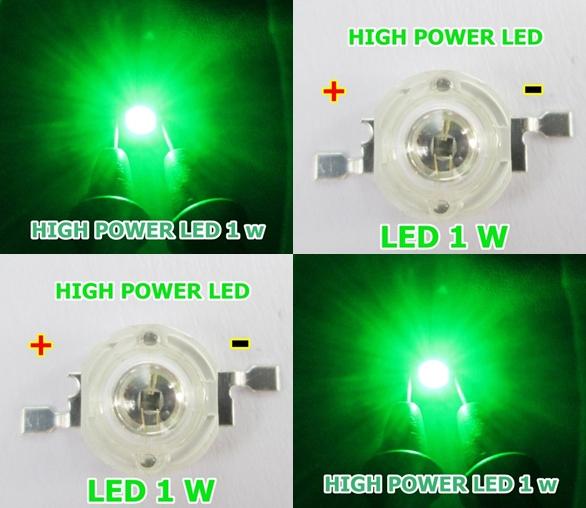 high power led 1 w สีเขียว จำนวน 1 หลอด