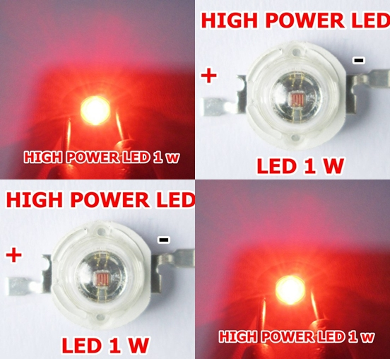 high power led 1 w สีแดง จำนวน 1 หลอด