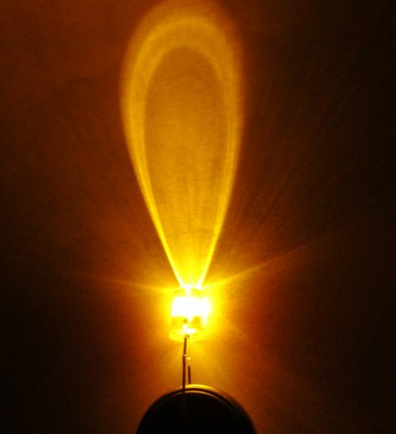 หลอดไฟ led 5 mm สีเหลือง Super Bright ราคาถูก 100 หลอด