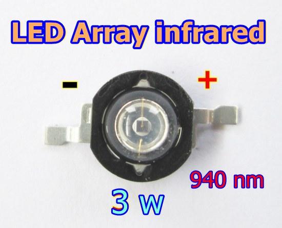 led array infrared 3 w 940 nm อินฟราเรด 940 นาโนเมตร
