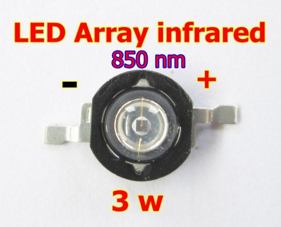 led array infrared 3 w 850 nm