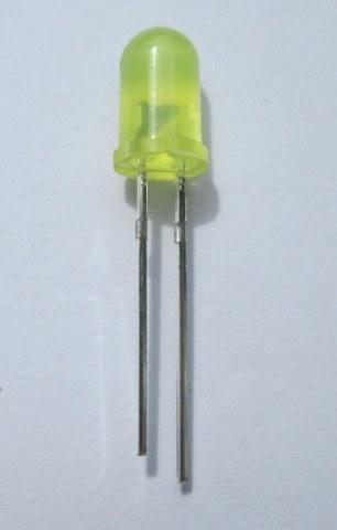 หลอดไฟ led 5 mm สีเหลือง  ราคาถูก 100 หลอด 90 บาท